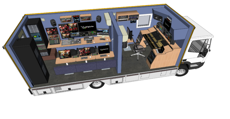Car-régie en 3D avec partie vidéo et partie audio