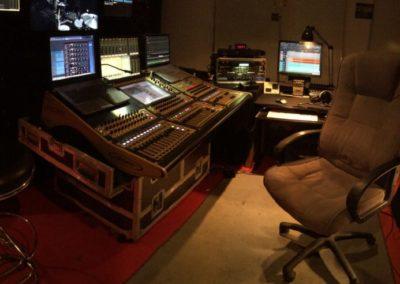 Studio d'enregistrement mobile Digico