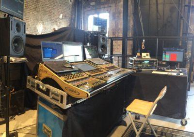Studio d'enregistrement mobile Digico Le Multipiste Studio Camille HENRY Le Multipiste dans les coulisses d'un vieux théâtre